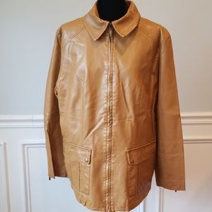 💥(Clearance) Butterscotch Faux Leather Jacket